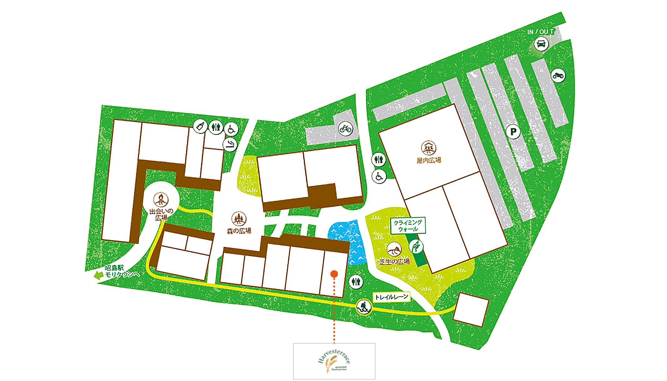 Harvesterrace 昭島アウトドアヴィレッジ店map