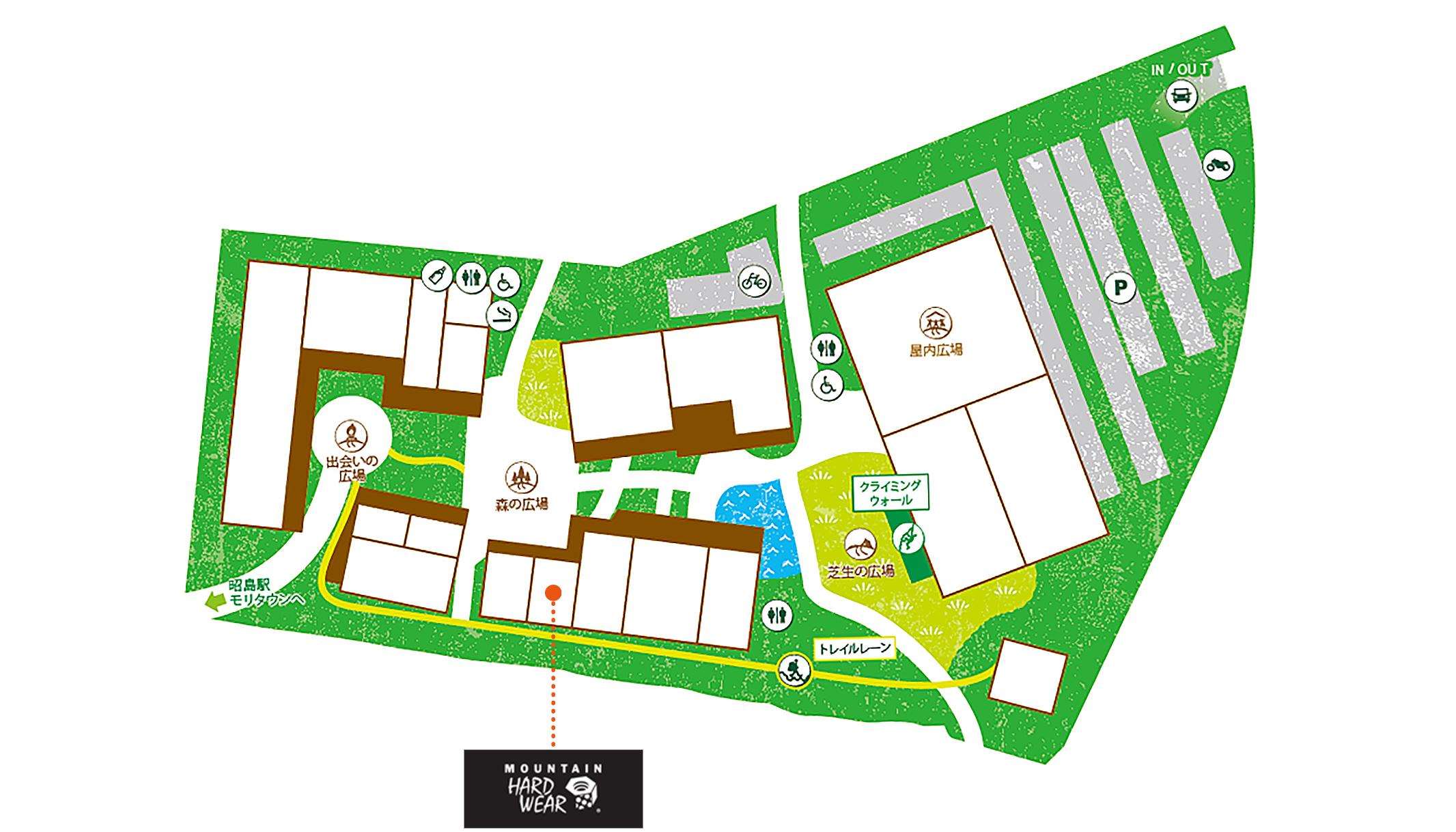 MOUNTAIN HARDWEAR 昭島アウトドアヴィレッジ店map