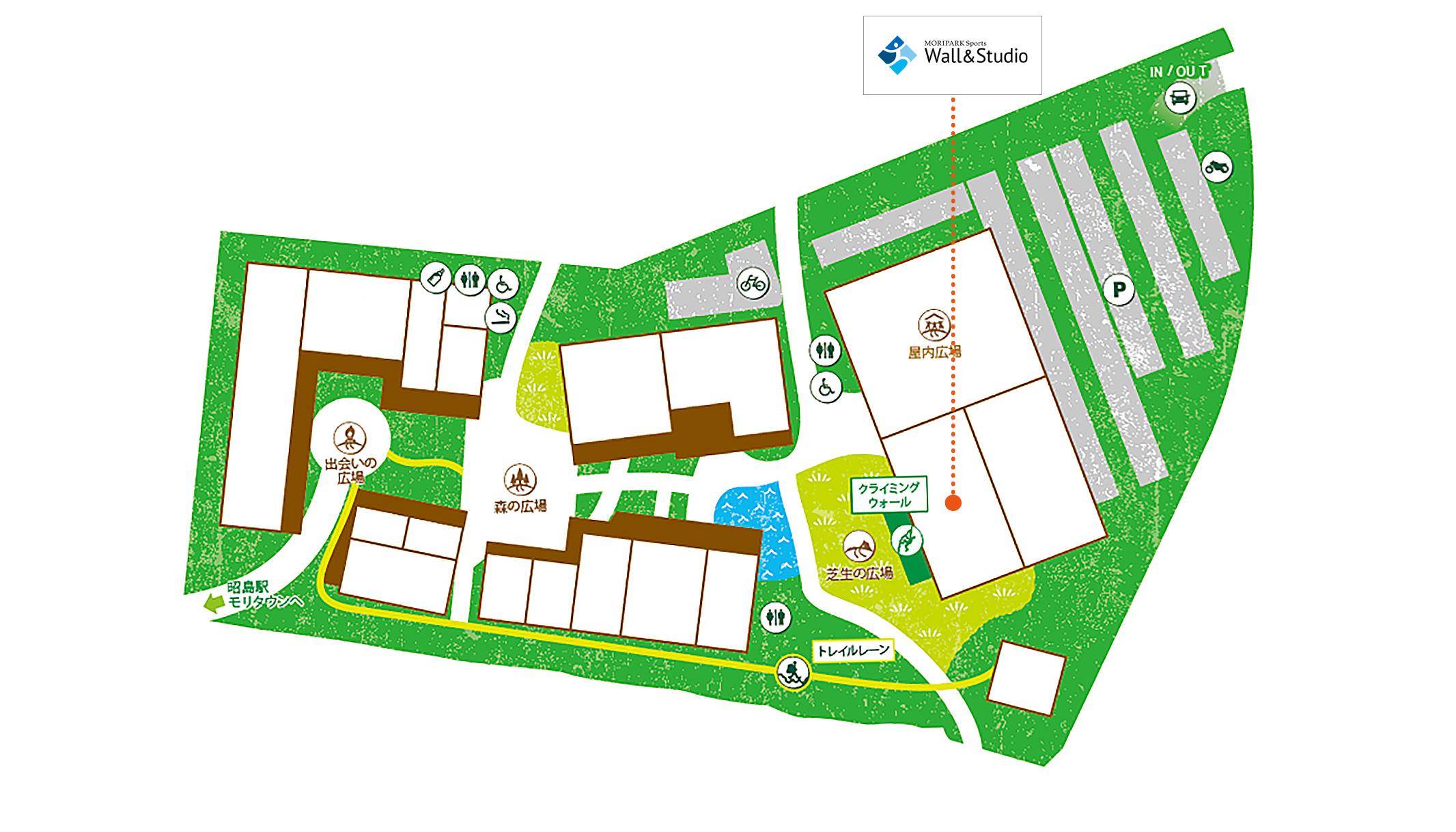 PLAY 昭島アウトドアヴィレッジ店map