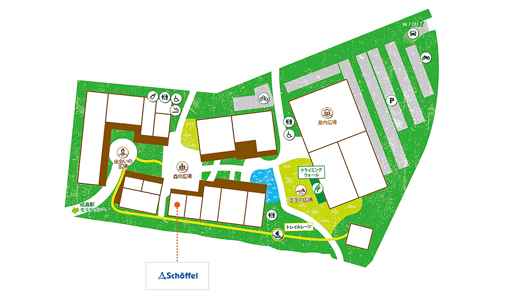 Schoffel 昭島アウトドアヴィレッジ店map