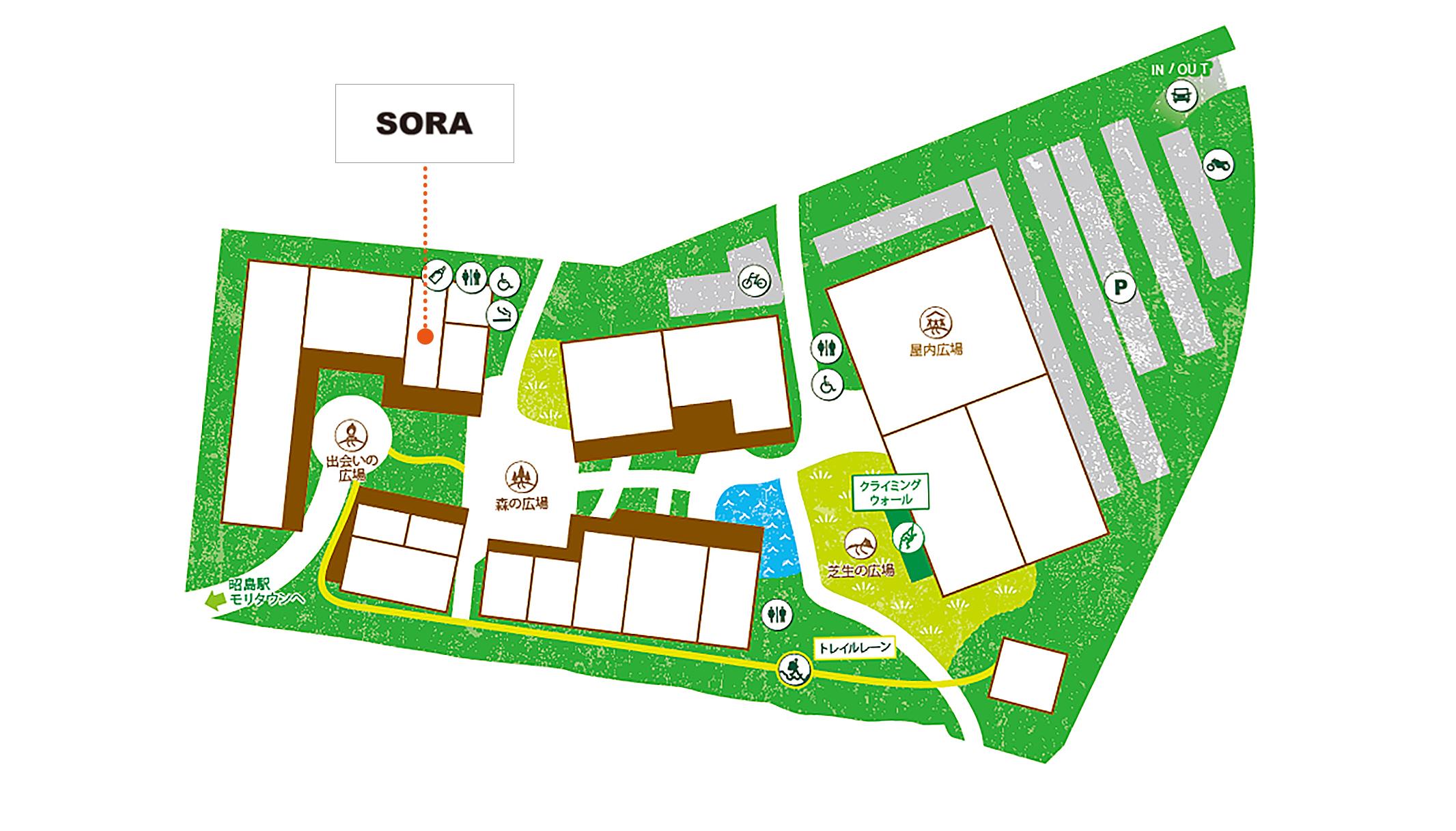 SORA 昭島アウトドアヴィレッジ店map