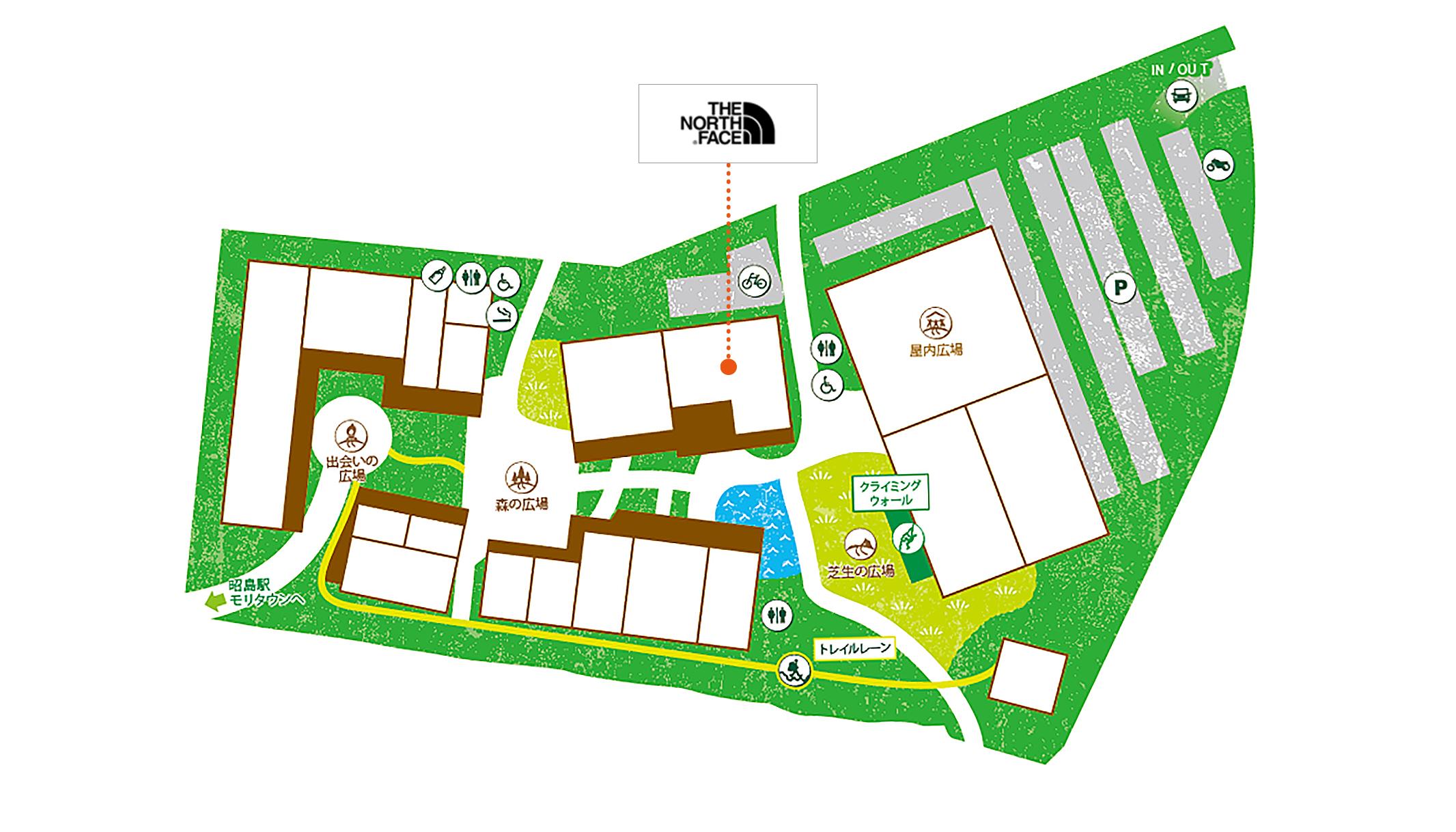 THE NORTH FACE 昭島アウトドアヴィレッジ店map